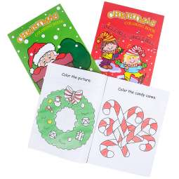 9 x 12 christmas coloring book 12pg - Coloring Book Crayons