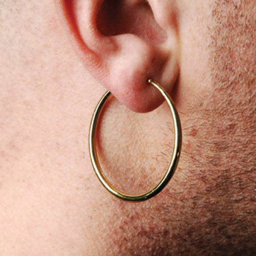 Gold Pirate Clip On Earrings