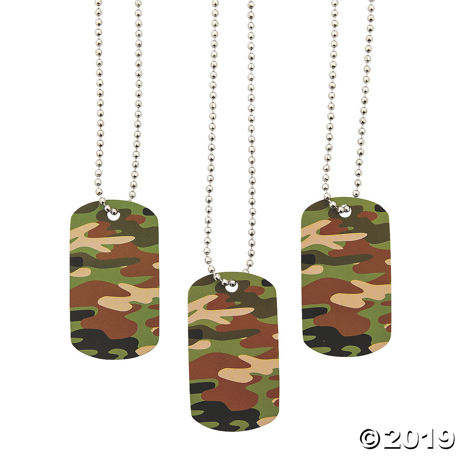 camouflage tag necklaces partypalooza